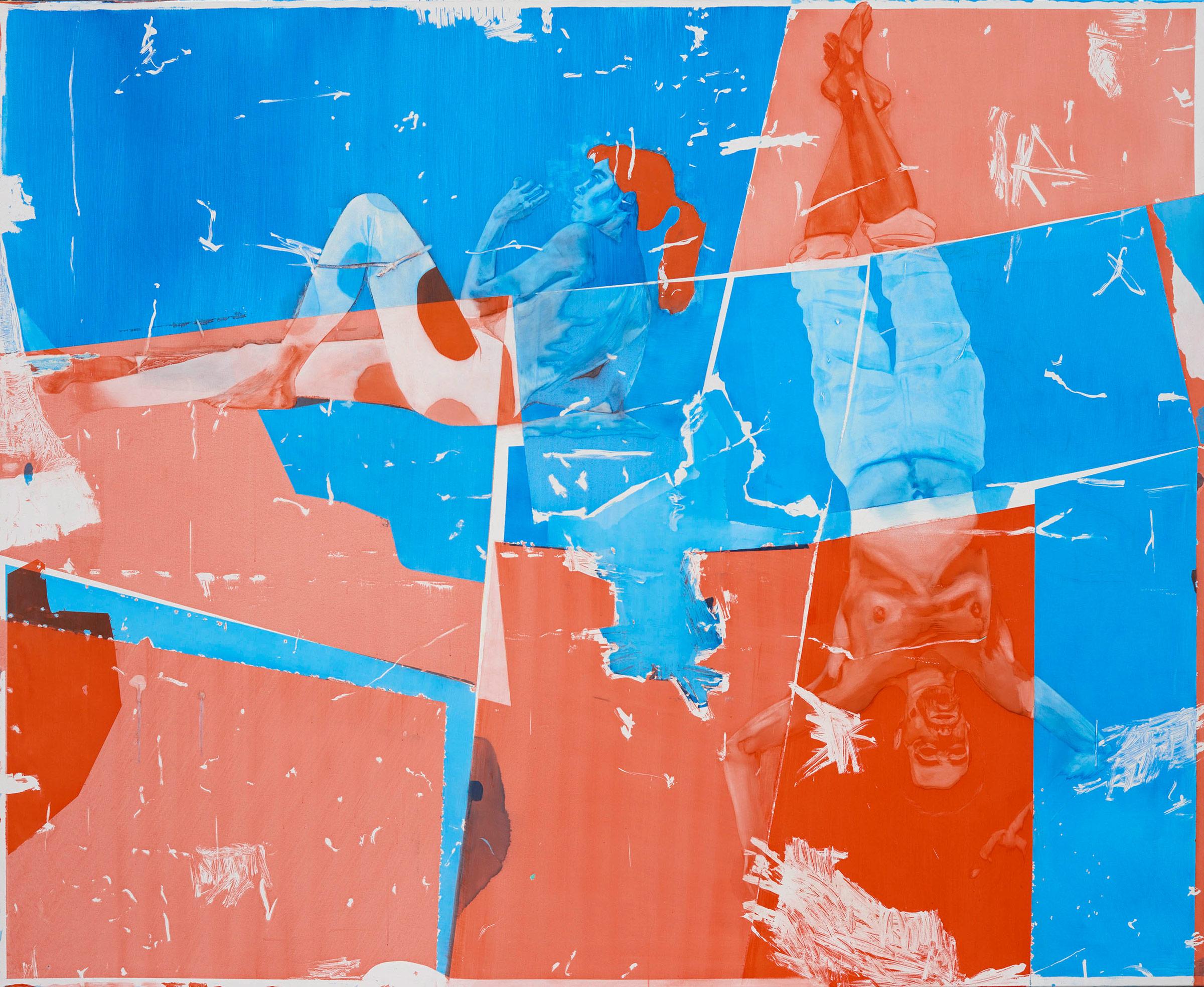 michael-rampa-gym-2016-aquarelle-et-vernis-sur-toile-240x290cm
